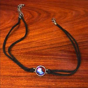 choker with galaxy pendent